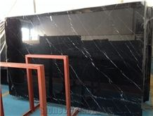 Floor Tile Slab Sizes Nero Marquina Black Marble with White Veins