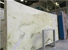 Hot Sell Danton Green Marble Spring Slabs for Multi-Family Project