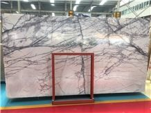 Italy Ice Jade Marble Grey Lilac Pattern Slabs & Tiles for Wall Decor