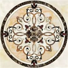 Marble Mosaics Inlay Fantastic Medallions,Water-Jet Medallion