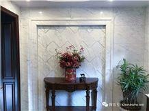 Myanmar White Jade Marble Floor Covering Polished