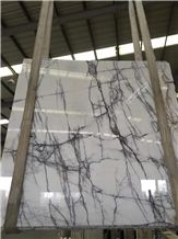 Newest Italy Ice Jade Marble White with Lilac Panttern Slabs & Tiles