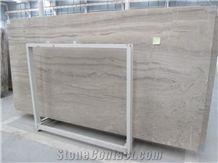 Opposite Veins Zebra Wooden Marble Slabs China Beige Marble Tiles