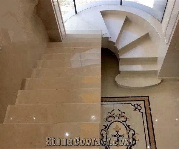 Ottoman Beige Marble StaircaseLuxury Steps Hotel Indoor Stair Decor & Ottoman Beige Marble StaircaseLuxury Steps Hotel Indoor Stair ...