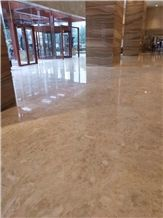 Own Quarry Cloudy Beige Gold Yellow Marble Slab Tiles Wall Covering