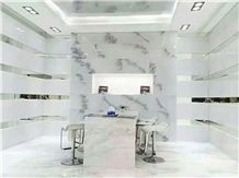 Polished White Ink Marble for Wall and Floor Tiles