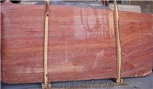 Red Travertine Slabs & & Tiles Floor and Wall Covering, Iran Red Stone