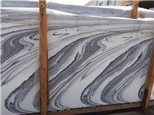Royal Blue Marble Polished Slabs Sea/Ocean Wave Grey Tiles Pattern
