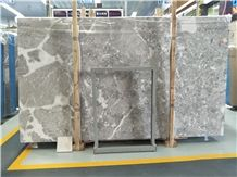 Turkey Grey Marble Slabs Tiles Dora Ash Cloud Floor Covering Pattern