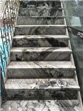White Beauty/China Green Marble Stairs & Steps