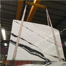 China Panda White Marble Slab &Tile,White and Black for Wall and Floor
