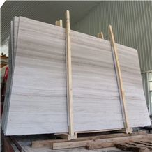 Chinese White Wood Grain Marble Slab & Tile,China Wooden Serpeggiante