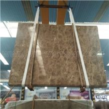 Crystal Emperador Light Marble Tile & Slab, Turkey Brown Marble