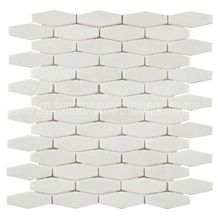 Thassos Crystal White Hexagon Marble Mosaic Tile for Wall and Floor