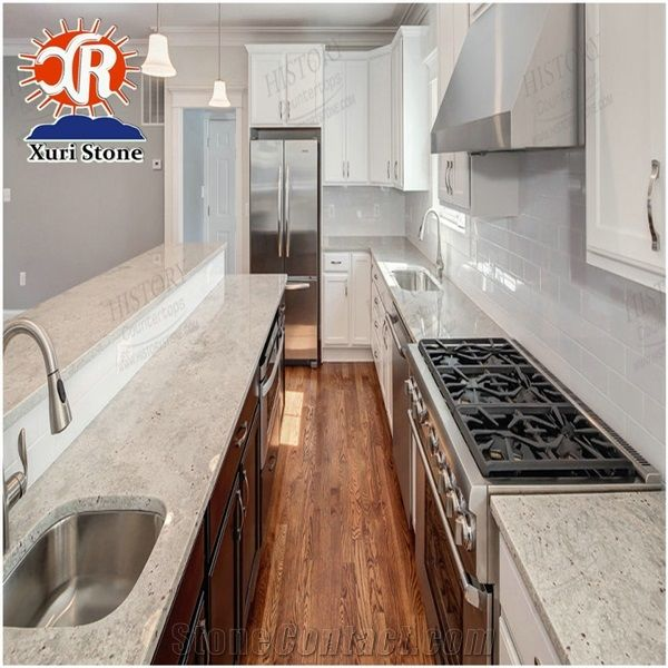 Andromeda White Kitchen Pictures Granite Countertops Stone ...
