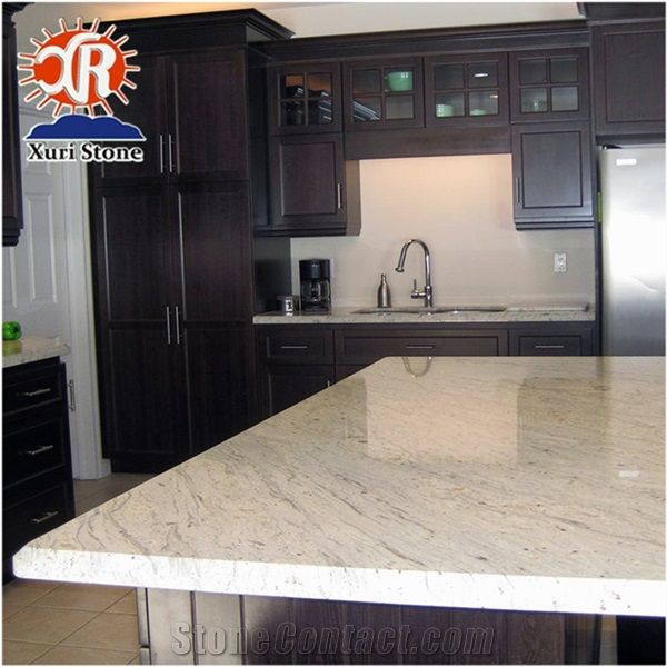 Er River White Solid Color Granite Countertop