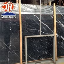 China Cheap Black with White Vein Marble Nero Marquina Marble Big Slab