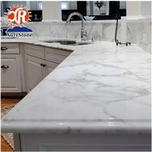Competitive Price Alabama White Marble Kitchen Top