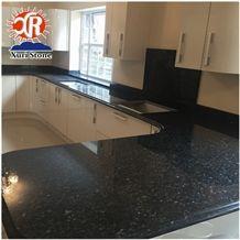 Direct Facotry Prefabricated Kitchen Black Pearl Pre Cut Granite