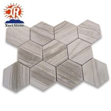 Exquisite Marble Mosaic Athens Wood Grain, Hotel Decorative Stone
