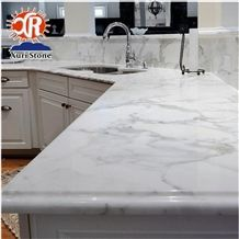 Ltaly Calacatta White Marble Kitchen Countertops Island Tops