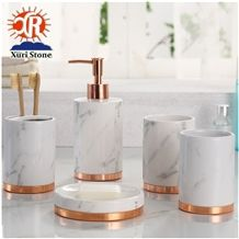 Marble Resin Bath Accessory Bathroom Accessories Set with Soap