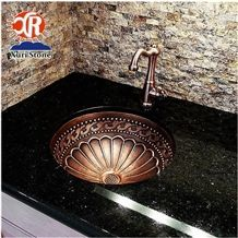 Popular Black Galaxy Granite Countertop/Vanity Top for Home Decoration