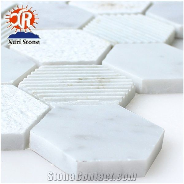 Style Small White Brick Mosaics Small Color Wall Tiles Kitchen Floor From China Stonecontact Com