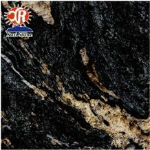 Top Grade Polished Cosmic Black Granite for Wall Tile