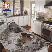 Top Quality Exotic Brazillian Elegant Snowflake Alaska White Granite Countertops