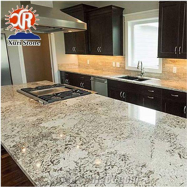 Top Quality Nature Stone Elegant Snowflake Alaska White Granite Countertops