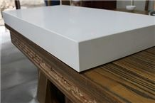 45 Beveled and Laminated White Quartz Bar Countertop