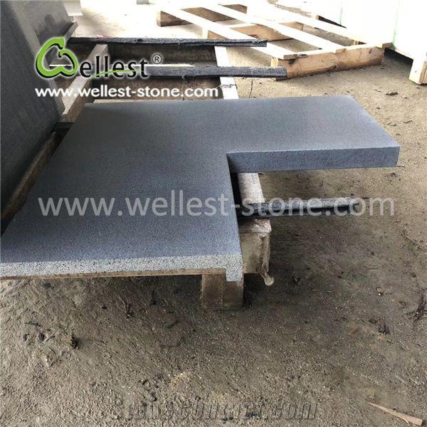 Anti slip l shape basalt tile for swimming pool edge - Non slip tiles for swimming pools ...