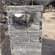 Black Slate Letter Blox Column Blox Gate Pillar Stone Post