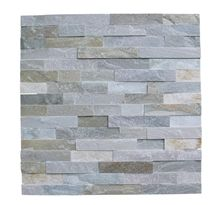 Beige Slate Wall Cladding Panels/Stacked Stone Veneer/Fireplace Stone