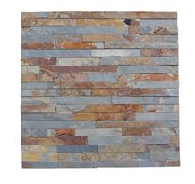 China Rusty Slate Brown Ledge Stone for Wall Cladding Panel