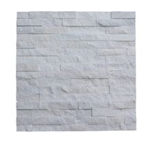 White Quartzite Wall Cladding Culture Stone Stacked Stone Tile