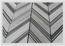 Mosaico Wood Crema Marble Collection