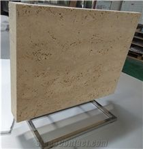 Vein Cut Unfilled Roman Travertine Honeycomb-Backed Stone Panels