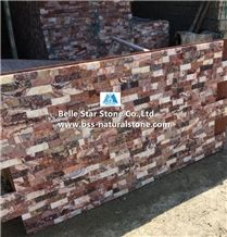 Glory Purple Lilac Marble Culture Stacked Ledge Stone Panels Veneer