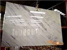 China Light Blue Jade Hibiscus White Marble Bookmatch Slabs Tiles