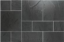 Vietnam High Quality Black Slate Tiles,Lai Chau Black Slate