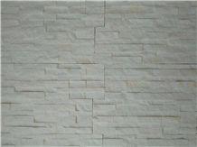 White Thassos Split Face Culture Stone