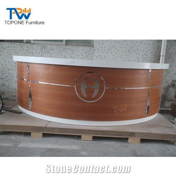 Wine Home Bar Furniture Half Round Wooden Bar Counter Design