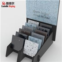Mdf Wooden Tile Display Racks Stone Sample Display Stands