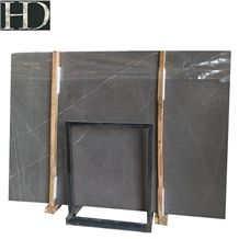 Leathered Bulgarian Grey Ash Marble Slabs with Good Price