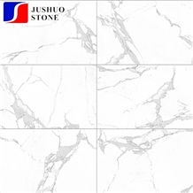 Carrara White Marble Looks Bathroom Design Polished Porcelain Tiles 32x32