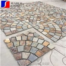 Cheap Beige Slate Mesh Stone for Exterior Flooring Cover Decoration