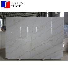 China Bianco Carrara Marble with Yellow Veins Good Quality Stone Slabs