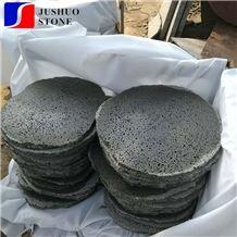 Hainan Black Basalt Random Sytep Stone Paving for Patio Road Decoration